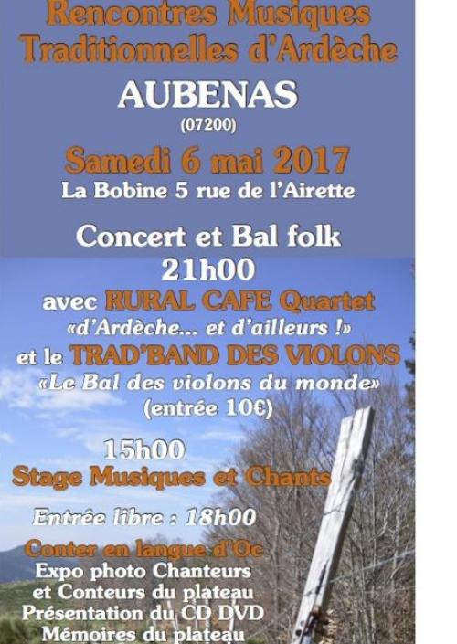 RENCONTRES MusikTradArdèche Samedi 6 rencontre aubenas 07 MAI 2017 LA Bobine 5 rue de lailette AUBENAS 07200